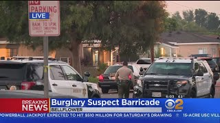 Man Crashes Into 2 Cars, Barricades Himself In Bellflower Home