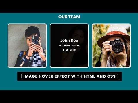 CSS3 Image Hover Effect with Text Animation | CSS3 Animation Snippets