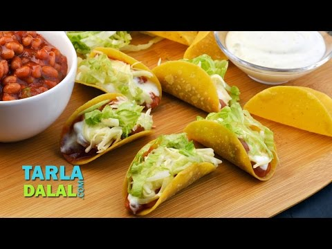 Tacos with Baked Beans by Tarla Dalal