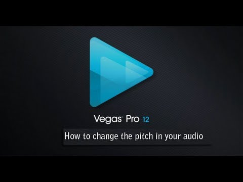 Sony Vegas Basics: How to edit the pitch in your audio clip