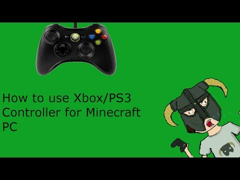 How To use a Xbox/PS3 controller for Minecraft PC (Free)