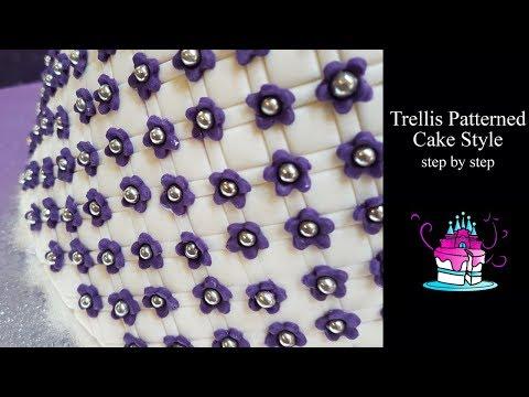 Trellis Pattern Cake Tutorial