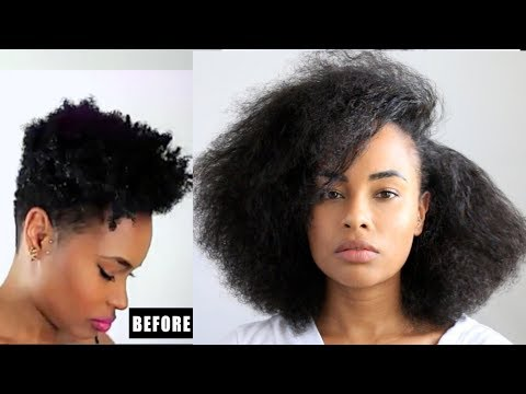 How I GREW OUT my Natural Hair LONG & FAST! ( One step hair growth tip) + BIG Surprise!