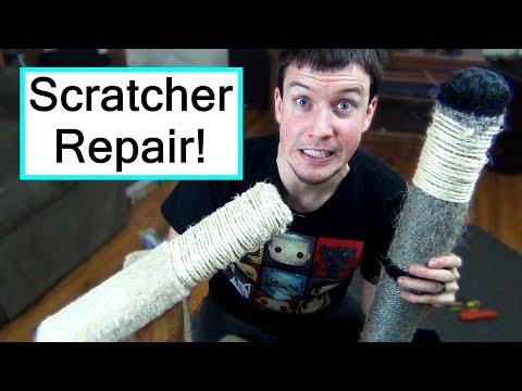 DIY Cat Scratcher Repair | CHEAP + EASY