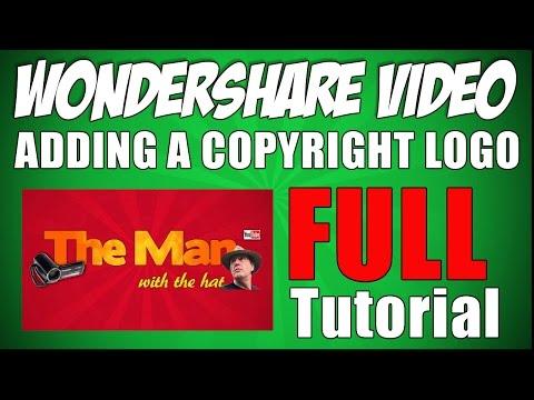 FULL tutorial for Wondershare Video Editor copyright logo