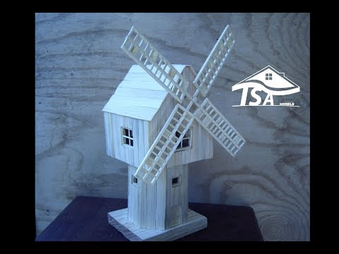 How to make a wooden model windmill