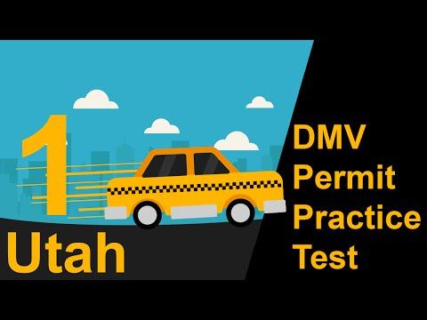 Utah DMV Permit Practice Test 1  - 2018