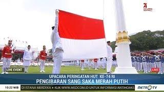 Detik-detik Pengibaran Replika Bendera Pusaka di HUT ke-74 RI di Istana Merdeka