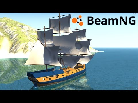 BeamNG Drive Stress Test : AN ACTUAL BOAT?!
