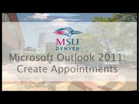 Outlook 2011 - Create appointment