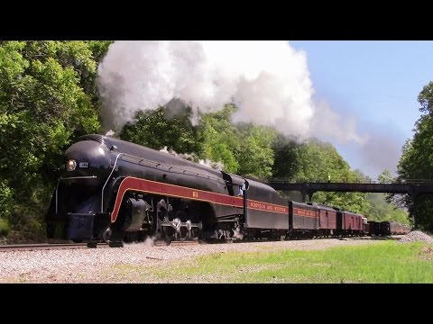 Chasing N&W 611: The Ferry Move plus other trains 5-8-17 Day 3
