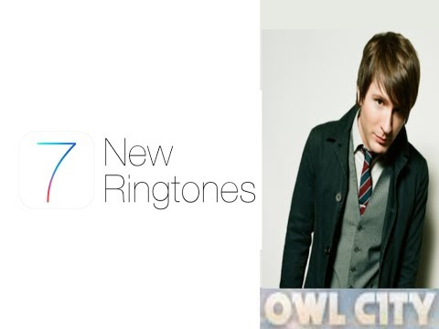 iOS 7 Owl City (comparing Apple's ringtones to Owl City songs)
