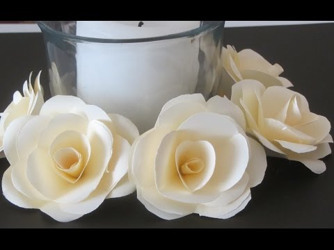 How to Make Paper Roses  Crafts With Paper Tutorial