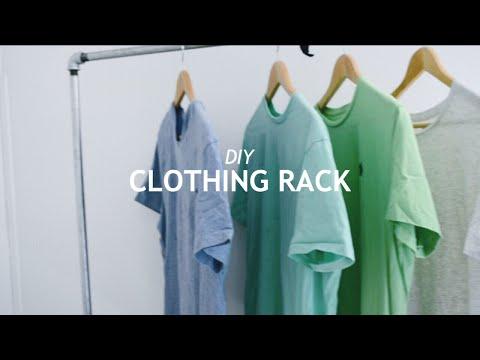 DIY MODERN RUSTIC CLOTHING RACK