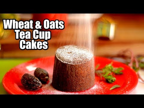 Christmas Special Wheat & Oats Tea Cup Cakes | Pressure cooker cup cake | Eggless cup cake