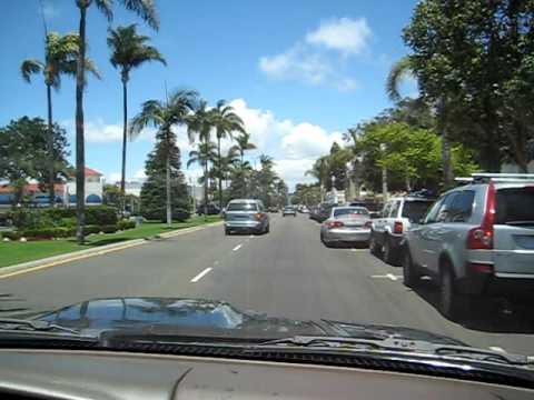 Driving through Coronado, San Diego, California