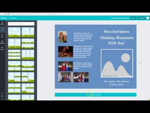 Creating a book cover on Canva