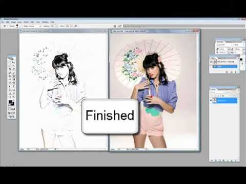 Photoshop CS2: Create a sketch from a picture