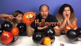 Making Slime With Balloons! Slime Ballon Tutorial Halloween Edition
