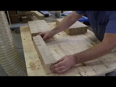 Making a large oak end grain cutting board