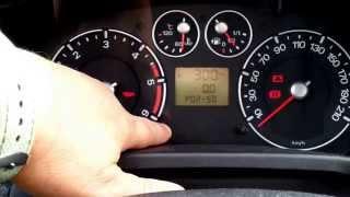 How to enter hidden menu in Ford Fiesta MK6 (service test mode