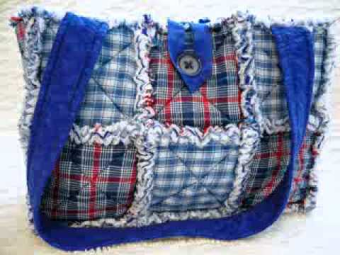 Rag Quilt Purses by P and J Crafts on Etsy