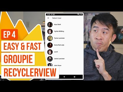 Kotlin Messenger 04: Super Fast Groupie RecyclerView and New