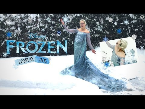 Elsa in the Snowfall - Frozen Cosplay Video