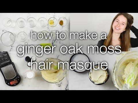 How to Make a Ginger Oak Moss Hair Masque