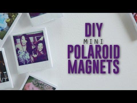 DIY MINI POLAROID MAGNETS