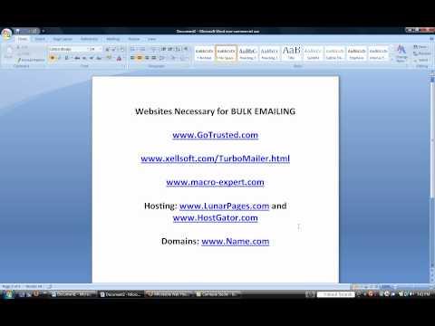 How to Send Bulk Email Advanced training video WMV version