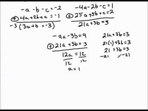 Finding quadratic function given three points on graph.mp4