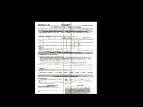 Request pertaining to military records