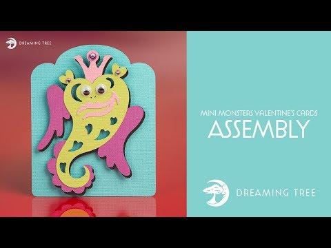 SVG File - Mini Monsters Valentine's Cards SVG - Monster D