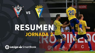 Resumen de CD Mirandés vs Cádiz CF (1-2)