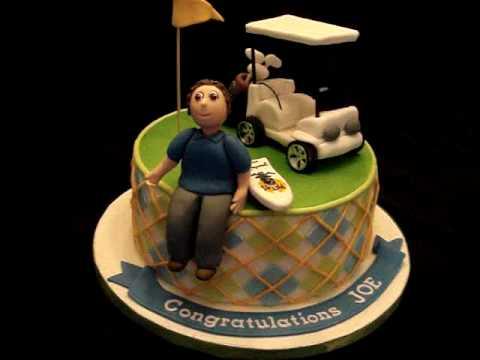 Golf themed Fondant cake