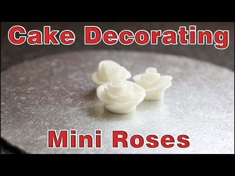 Simple Cake Decorating - Mini Roses | HappyFoods