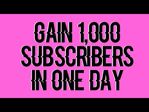 PROMOTE YOUR CHANNEL! GAIN SUBSCRIBERS FAST!