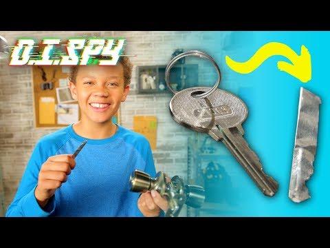 How to Open a Locked Door! (DIY Key Copier)    D.I.SPY