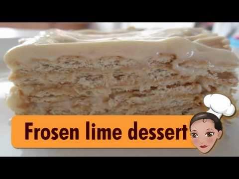 Frozen lime dessert (Mexican Food)