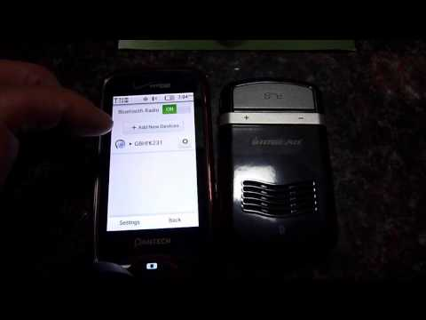 Iogear Solar GBHFK231 Bluetooth Hand Free Pairing With Cell Phones
