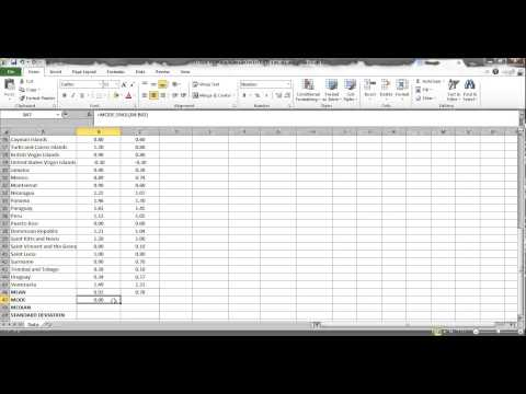 mean, mode, median using excel (central tendency and dispersion pt 1)
