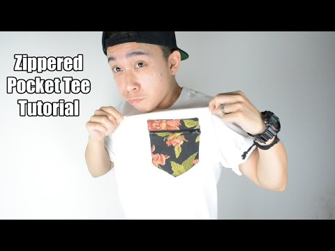 DIY: Zippered Pocket Tee Tutorial | KAD Customs #41
