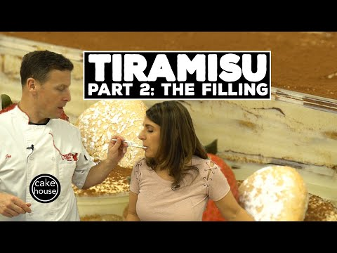 Classic Tiramisu Recipe Part 2/3 | Mascarpone Filling | Classic Desserts w. Cake Boss's Joe & Grace