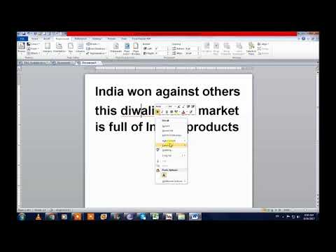 How to make newspaper artcle in Ms Word in Hindi