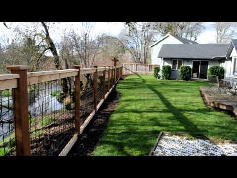 Cedar & Black Bull Panel Fence