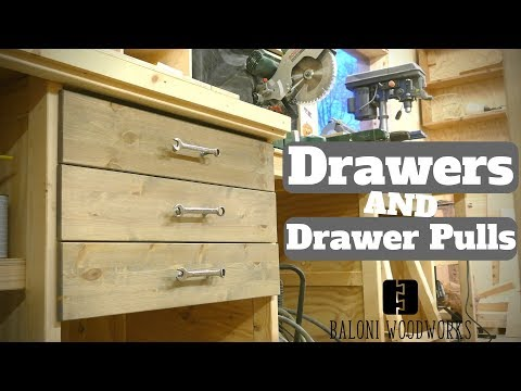 The Ultimate Miter Saw Station PART 3 // Drawers and Drawer-Pulls