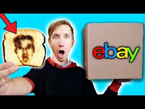 15 WEIRD BREAKFAST GADGETS - EBAY MYSTERY BOX (Challenge Unboxing Haul!)