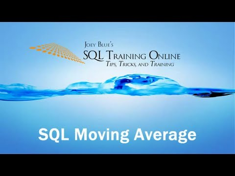 SQL Moving Average - SQL Server Training, Subquery, Datediff, Dateadd