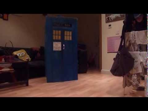 Cardboard TARDIS